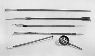 Scoop (utensil) - Model of an Ice Scoop, Eskimo, 1900-1930, Brooklyn Museum