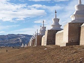 Abtai Sain Khan - Stupas surrounding Erdene Zuu monastery