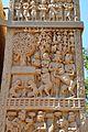 Monkey Offering Honey - East Face - West Pillar - North Gateway - Stupa 1 - Sanchi Hill 2013-02-21 4286.JPG