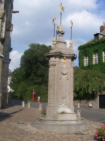 pillory at Mons (Belgium) Place du chapitre