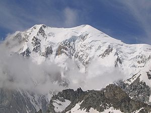 Thomas Graham Brown - The east or Brenva face of Mont Blanc, seen from Pointe Helbronner