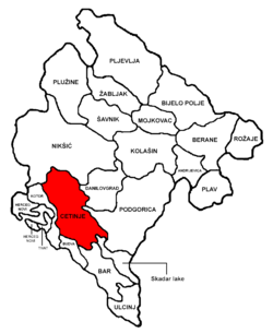 Cetinje Municipality in مونٹینیگرو