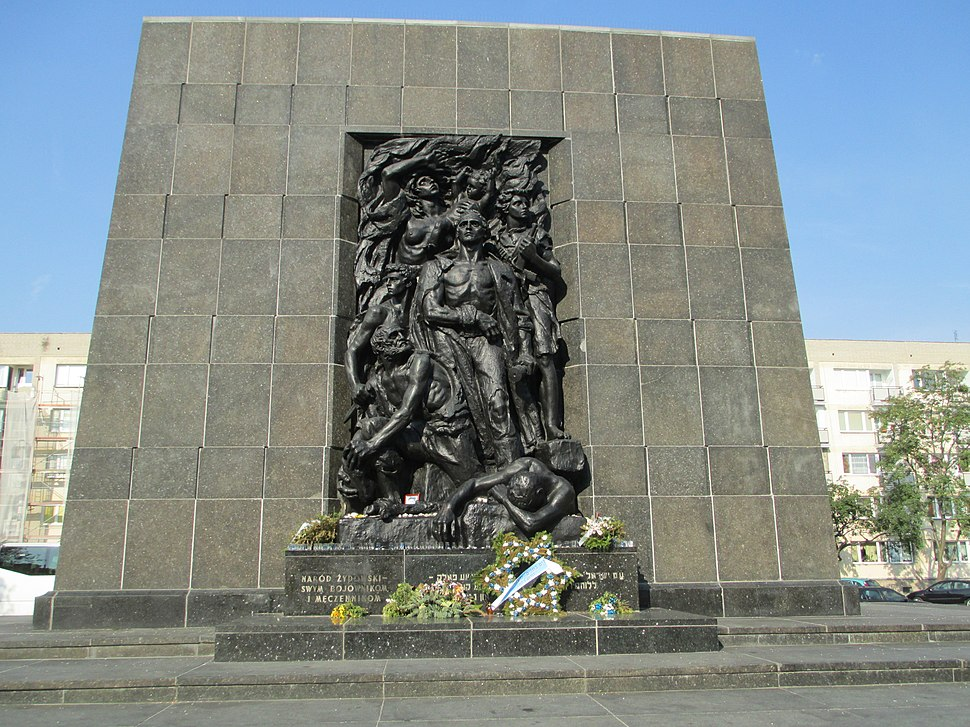 Monument of Warsaw Ghetto Uprising in Warsaw