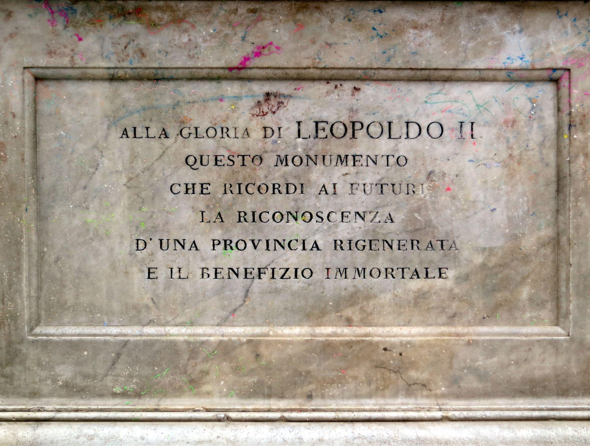 Monumento a Canapone (Grosseto) - Basamento Panello fronte
