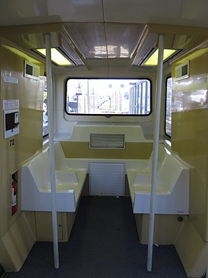 Morgantown Personal Rapid Transit - Interior of a PRT car