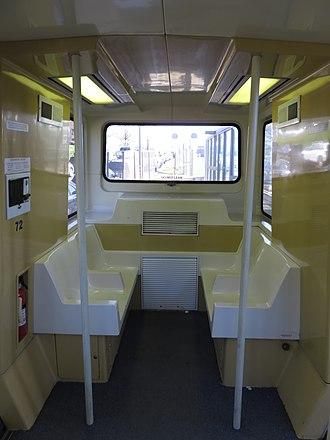 Morgantown Personal Rapid Transit - Interior of a PRT car