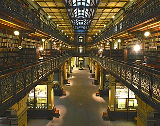 Adelaide city centre - The interior of the Mortlock Wing at the State Library of South Australia