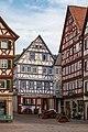 Mosbach - Marktplatz - Blick in Schlossgasse mit Schwanen und Schlossgasse 2.jpg