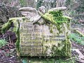 Mossy angel at St Mary's Church - geograph.org.uk - 295208.jpg