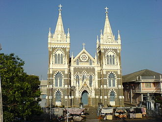 Bandstand Promenade - Image: Mount Mary Church (Bombay)