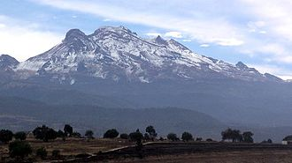 Geography of Mexico - Iztaccíhuatl mountain near Mexico City.