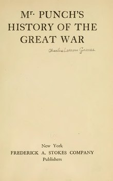 Mr. Punch's history of the Great War, Graves, 1919.djvu