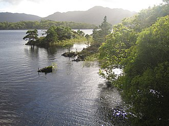 Lakes of Killarney - Muckross Lake viewed from Brickeen Bridge