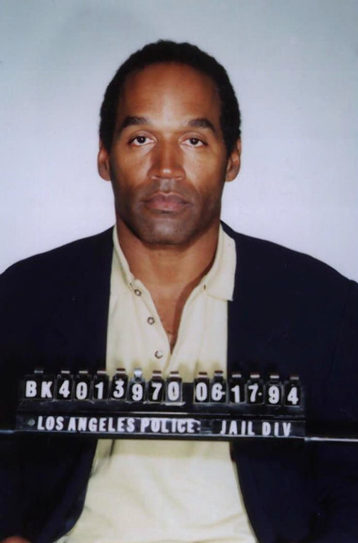 Mug shot of O.J. Simpson