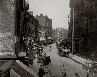Five Points, Manhattan - Image: Mulberry Bend Jacob Riis