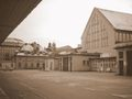 Munich Sendling Großmarkthalle Halle1 Gaststätte sepia.JPG