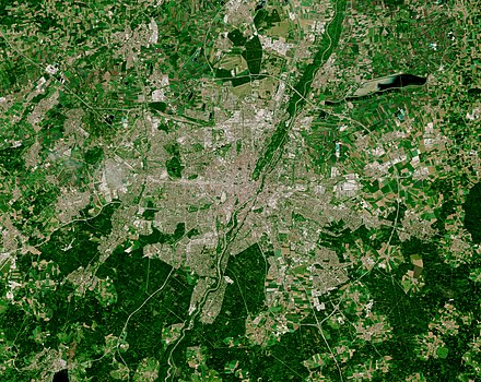 Satellite photo Munich by ESA Sentinel-2