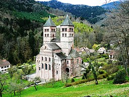 Klostret Abbaye de Murbach i Vogeserna