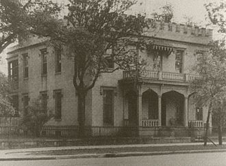 Alva Belmont - Her birthplace, the Murray Forbes Smith House at 201 Government Street in Mobile, Alabama.
