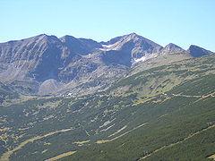 изглед към Мусала - най-високият връх на Балканския полуостров