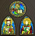 Museo di santa croce, vetrate su disegno del baldovinetti (tondo) e di pacino di buonaguida.JPG