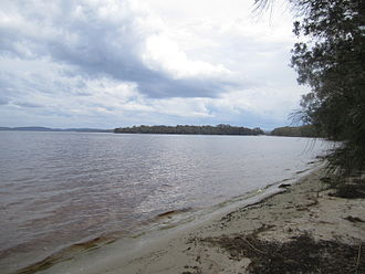 Myall Lakes - One of the lakes in the Myall Lakes National Park.