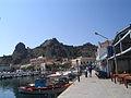 Myrina harbour and castle.JPG
