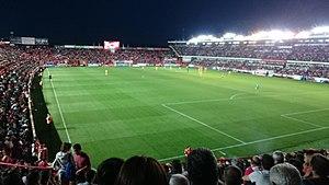 Nou Estadi de Tarragona - Image: Nàstic Osasuna 2015 16 Gol Mar des de Gol Muntanya