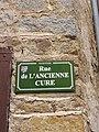 Néronde - Rue de l'Ancienne Cure (plaque).jpg