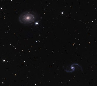 IC 167 - NGC 691 (upper left) and IC 167 (lower right)