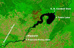 NASA satellite image of Tobin Lake
