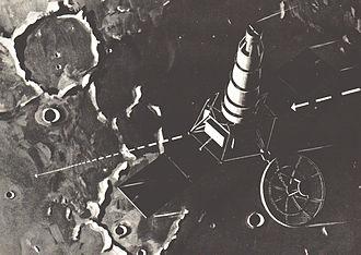Ranger 2 - Artist's conception of Ranger 2 spacecraft.