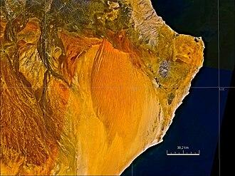 Sharqiya Sands - NASA satellite image