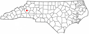 Morganton, North Carolina - Image: NC Map doton Morganton