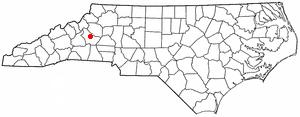 Morganton, North Carolina - Image: NC Map doton Morganton