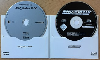 Need for Speed: Porsche Unleashed - The 40 Jahre 911 game CD alongside a regular CD