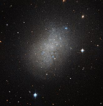 Dwarf galaxy - Dwarf galaxies like NGC 5264 typically possess around a billion stars.