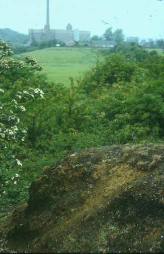 Nob End - Leblanc process waste cliff, Nob End Bolton, 1997
