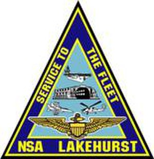 Lakehurst Maxfield Field - Command insignia of NSA Lakehurst