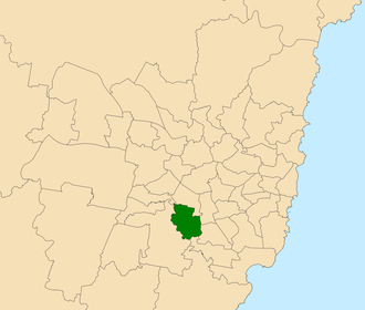 Electoral district of East Hills - Location within Sydney
