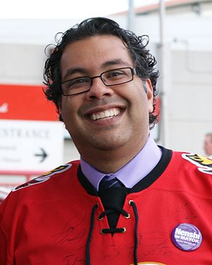 English: Naheed Nenshi, 36th mayor of the City...