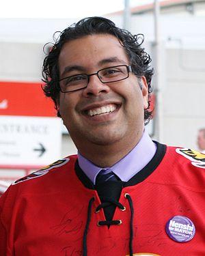 English: Naheed Nenshi, 36th mayor of the City...