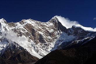 Namcha Barwa - Namcha Barwa from the west, from Zhibai observation platform