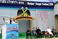 Narendra Modi addressing at the closing function of Manipur Sangai Festival-2014, in Imphal on November 30, 2014. The Governor of Manipur, Shri K.K. Paul and the Chief Minister of Manipur, Shri Okram Ibobi are also seen.jpg
