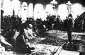 Nariman Narimanov during his speech in Sheki mosque (1920).png