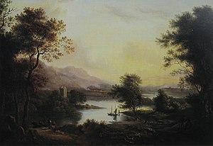 Scottish art in the nineteenth century - Highland Loch Landscape by Alexander Nasmyth (date unknown)