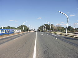 Nasrec Road next to Soccer City