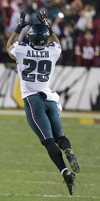 Nate Allen (safety) - Allen with the Philadelphia Eagles in 2014