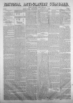 National Anti-Slavery Standard - January 7, 1841 edition