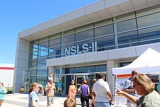 "National Synchrotron Light Source II - Exterior of National Synchrotron Light Source II facility, taken 22 July 2012 during Brookhaven National Laboratory ""Summer Sundays"" public tour."
